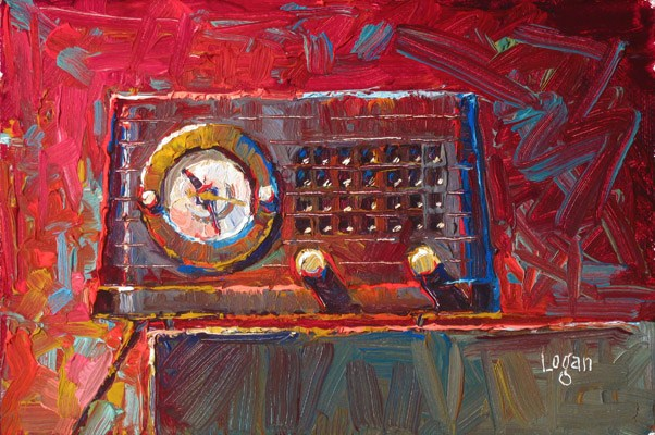"""Telechron Musalarm Clock Radio"" original fine art by Raymond Logan"