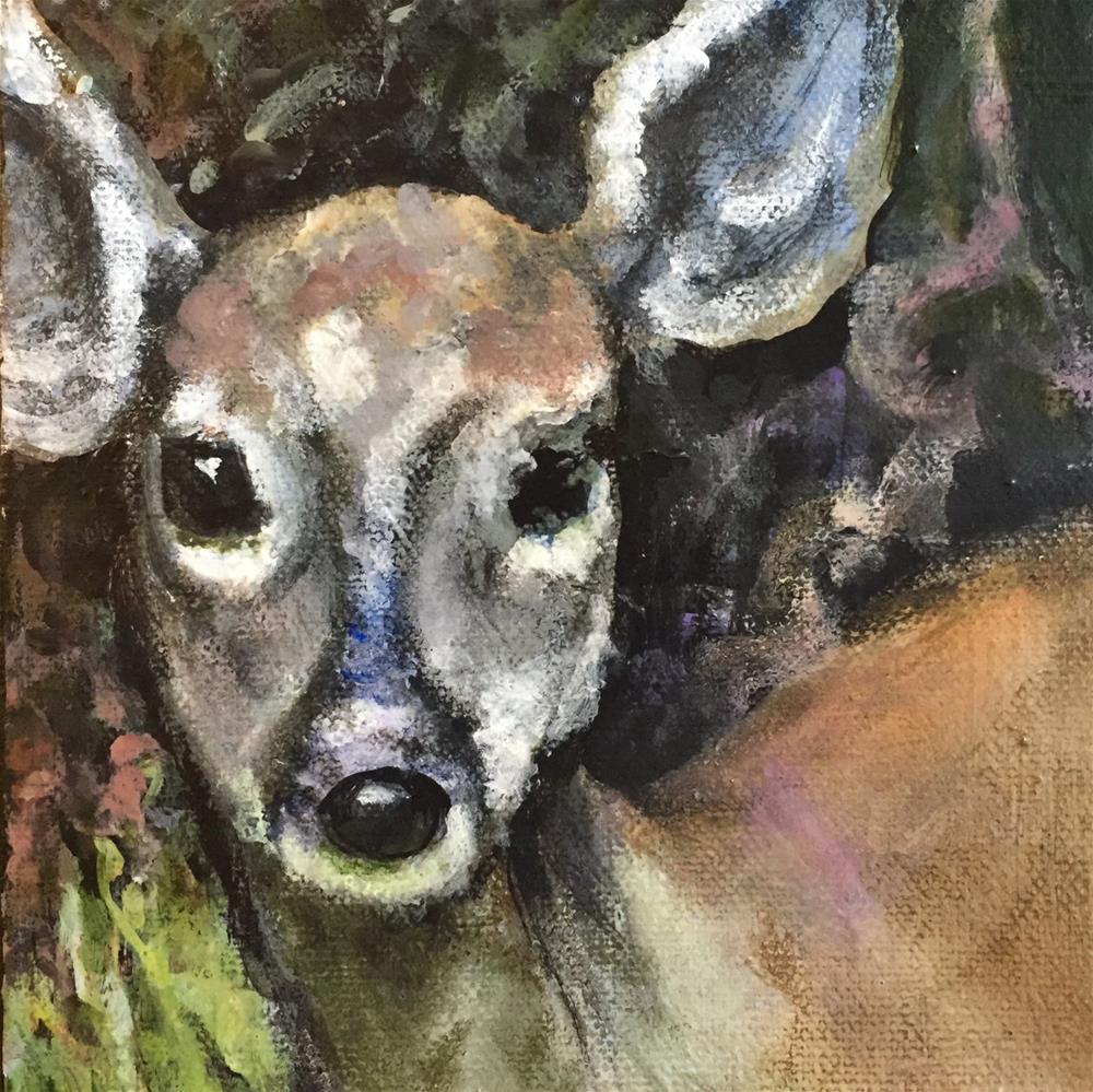 """Met While Walking"" original fine art by Debbie Yacenda"