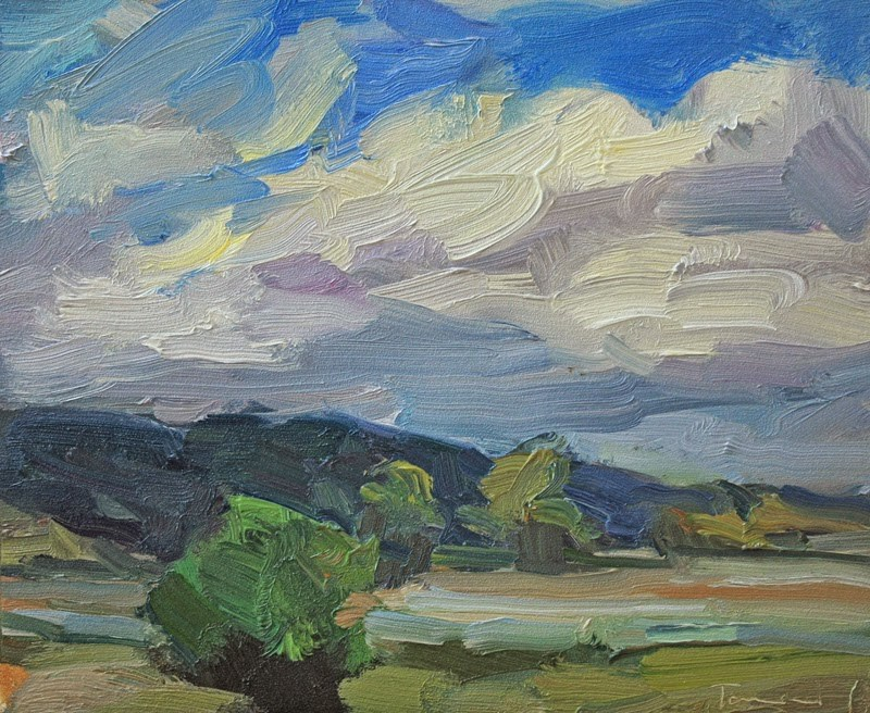 """Nisqually Sky"" original fine art by Kathryn Townsend"