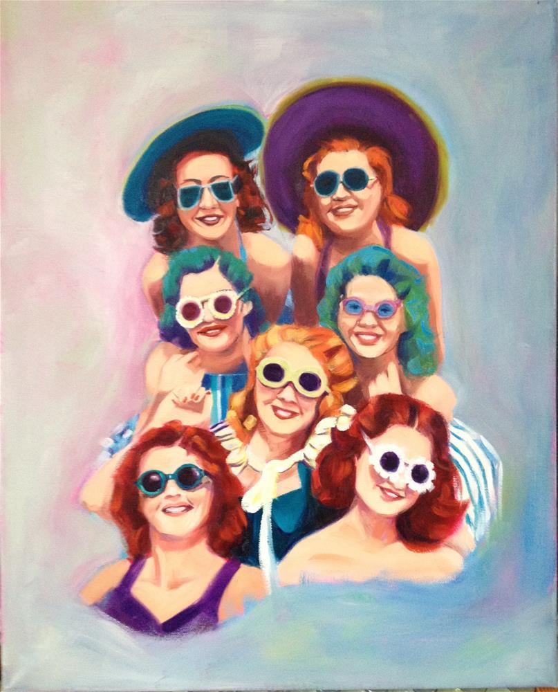 """Girls with Glasses"" original fine art by Bev Thibault"