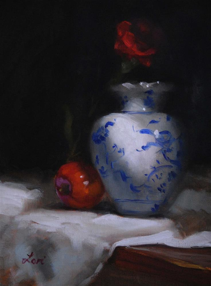 """Still Life with Red"" original fine art by Lori Jacobs - Farist"
