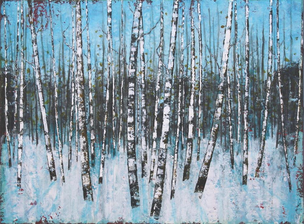 """Snow Birch"" original fine art by Sage Mountain"