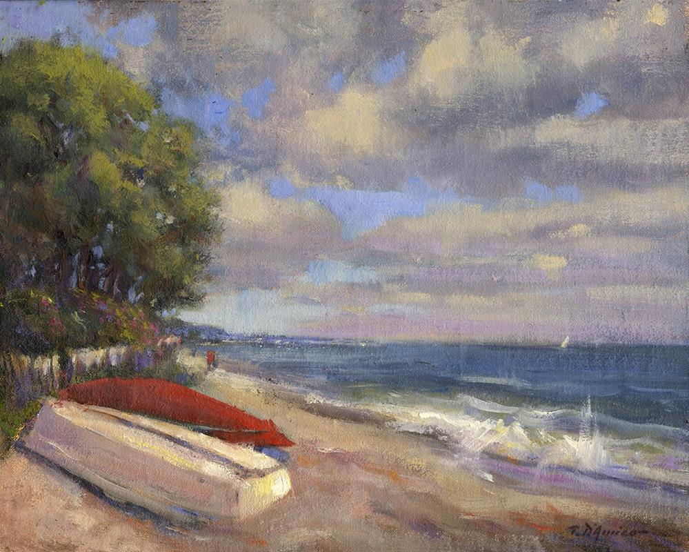 """Good Morning Seaview Beach"" original fine art by tony damico"
