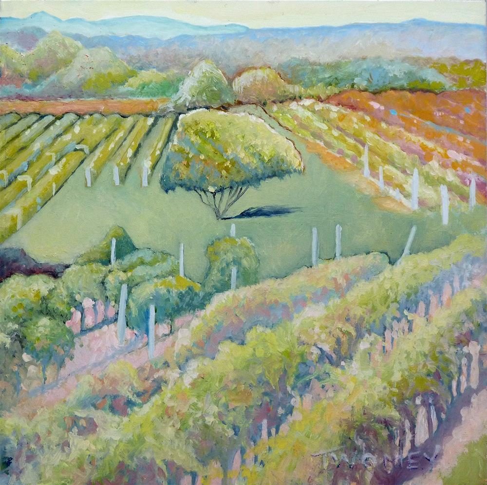 """East Coast Vineyards I"" original fine art by Catherine Twomey"