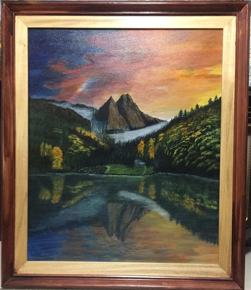 """Reflections"" original fine art by Roger Johnson"