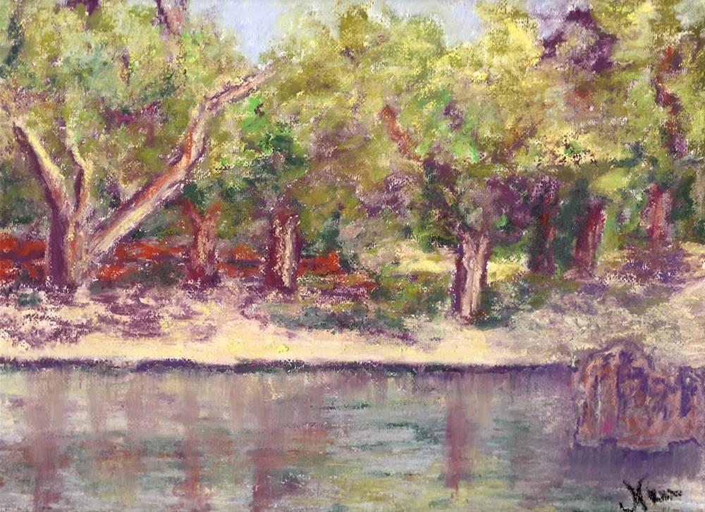 """Afternoon in the Park"" original fine art by Niki Hilsabeck"