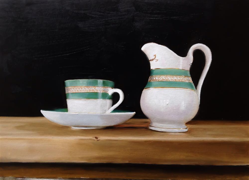 """""""Tea Cup and Jug"""" original fine art by James Coates"""
