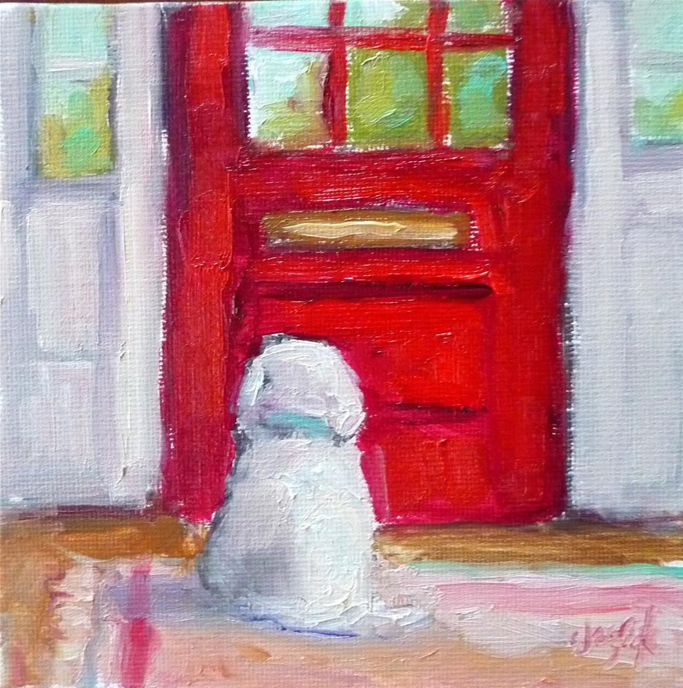 """Mail will be here soon...."" original fine art by Carol Josefiak"