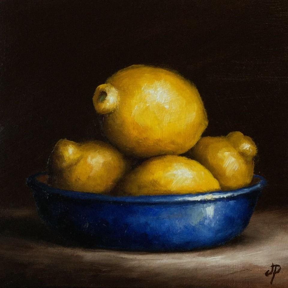 """""""Lemon bowl"""" original fine art by Jane Palmer"""