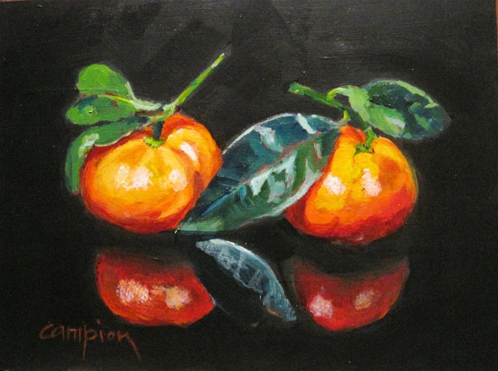 """405 Mandarins"" original fine art by Diane Campion"
