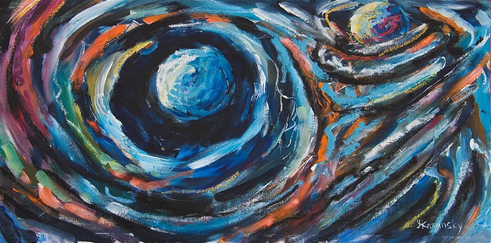 """Endocosmic Flux"" original fine art by Yulia Kazansky"