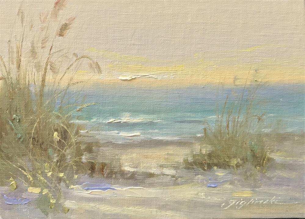 """16008 Beach Study"" original fine art by Martin Figlinski"