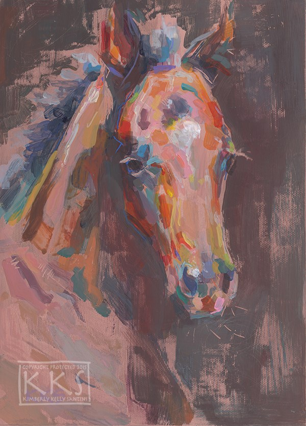 """Exquisite (Little One II), a Painting on Copper"" original fine art by Kimberly Santini"