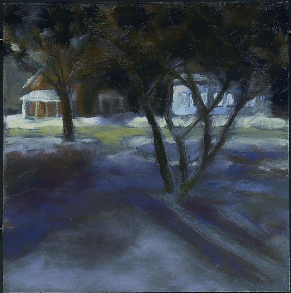 """A Walk at Night"" original fine art by Eileen Hennemann"