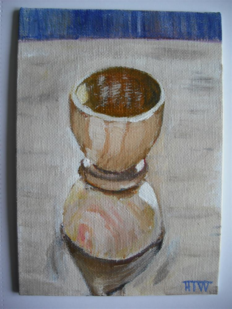 """""""Wooden Eggcup"""" original fine art by Heather Whiting"""