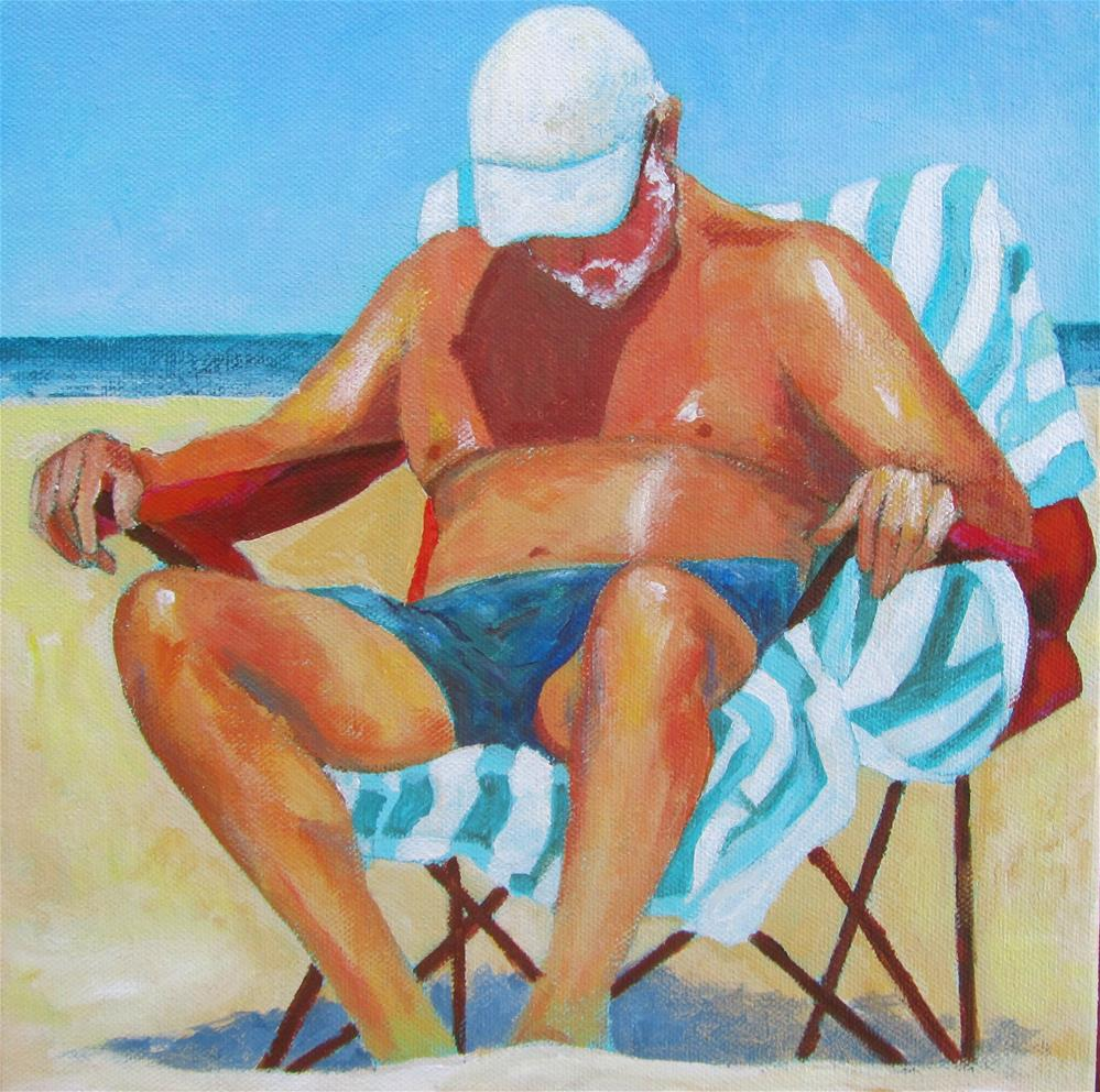 """His Siesta"" original fine art by Patricia MacDonald"