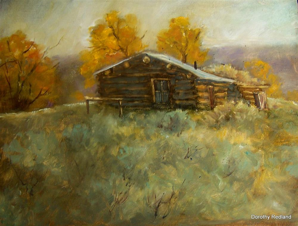 """Cow Camp"" original fine art by Dorothy Redland"