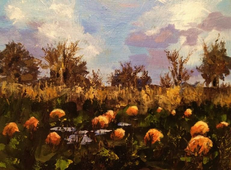 """Pumpkin Patch"" original fine art by Gary Bruton"