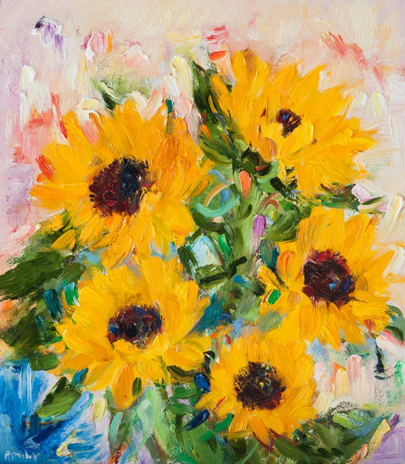 """Sunflowers"" original fine art by Anna  Fine Art"