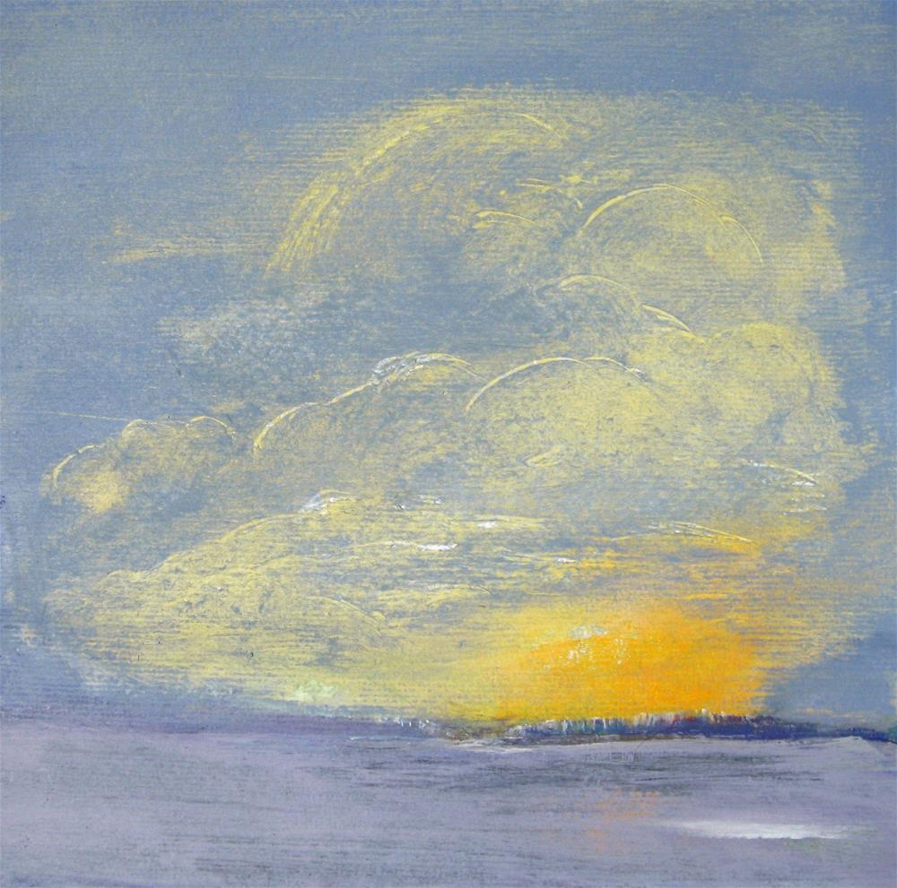 """""""Face In The Sky"""" original fine art by Alina Frent"""