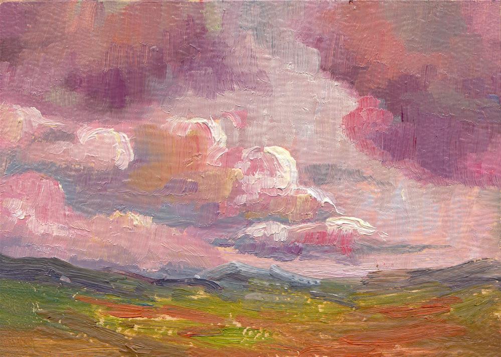 """LOWERING CLOUDS"" original fine art by Karen E Lewis"