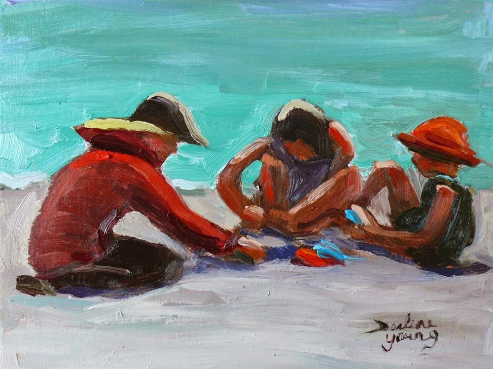 """649 Girl Talk"" original fine art by Darlene Young"