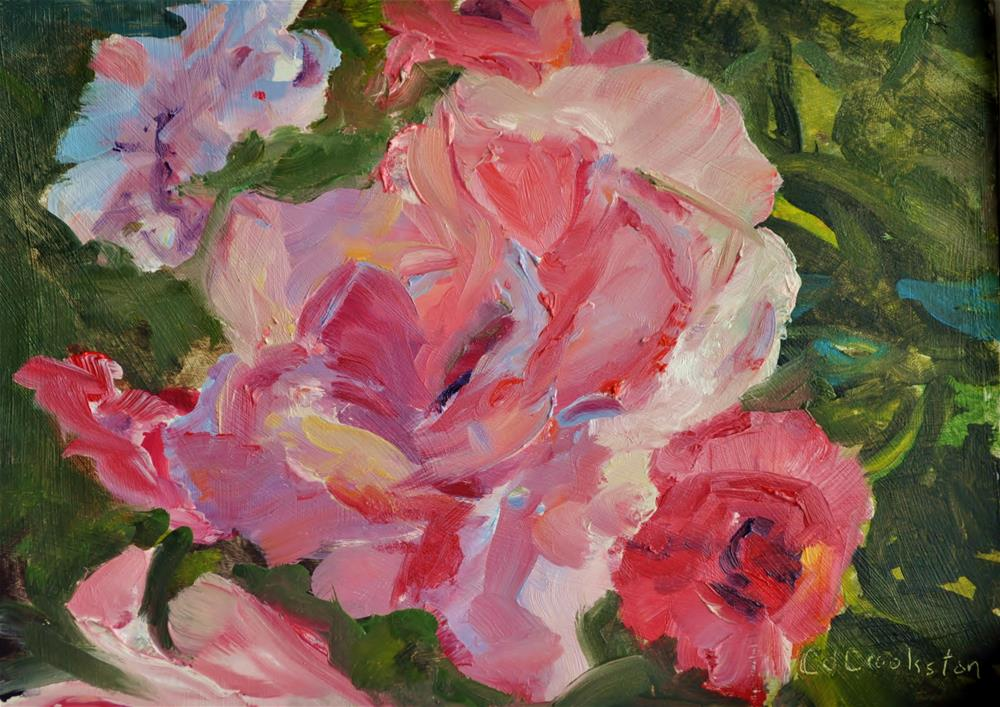 """Rose Bush Challenge"" original fine art by Catherine Crookston"