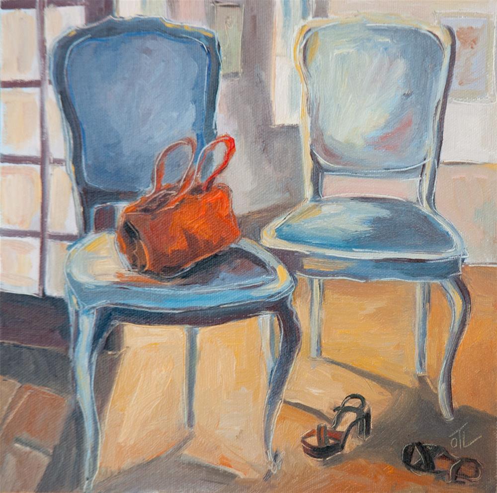 """DCS#79 - Evening, finally at home"" original fine art by Olga Touboltseva-Lefort"