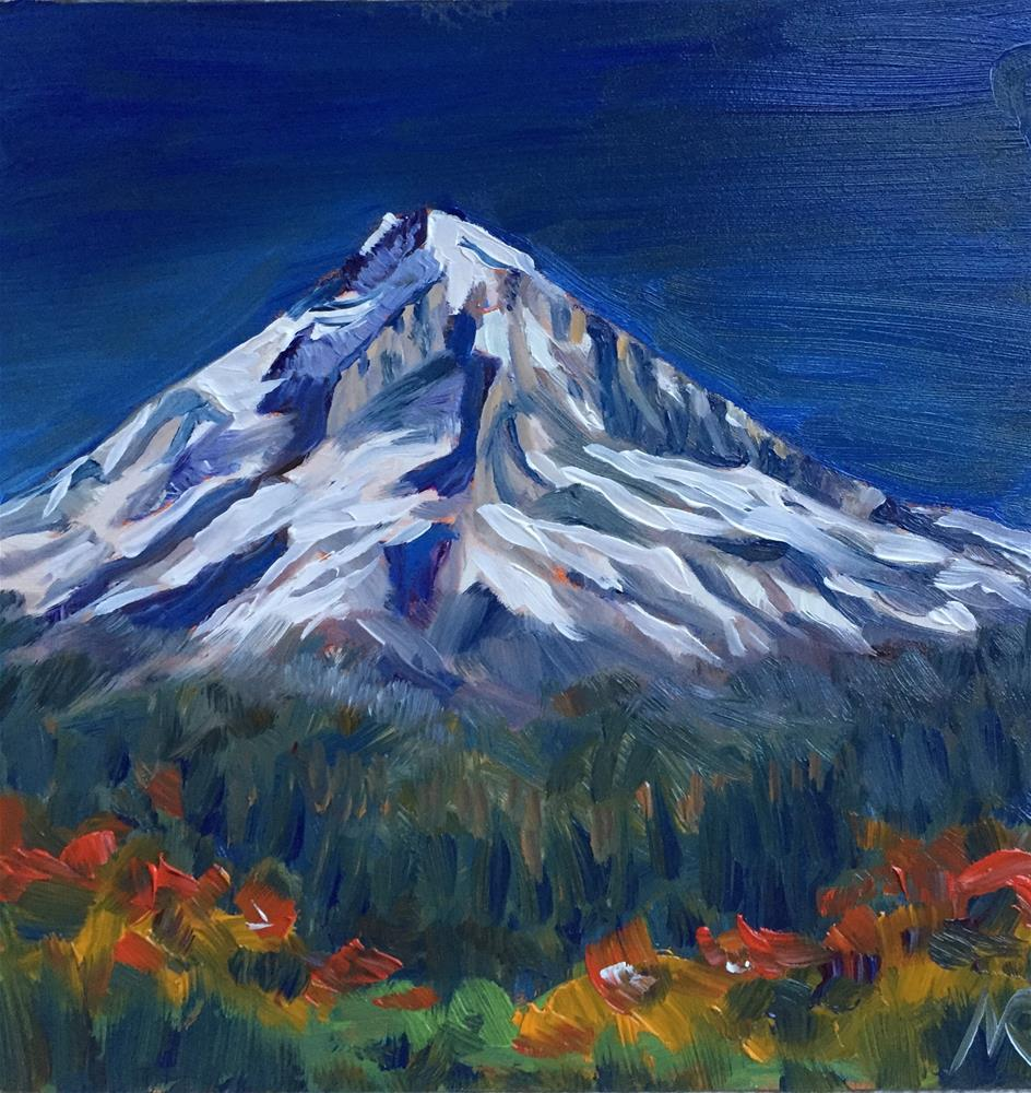 """Mt Hood in the Fall"" original fine art by Natasha Ramras"