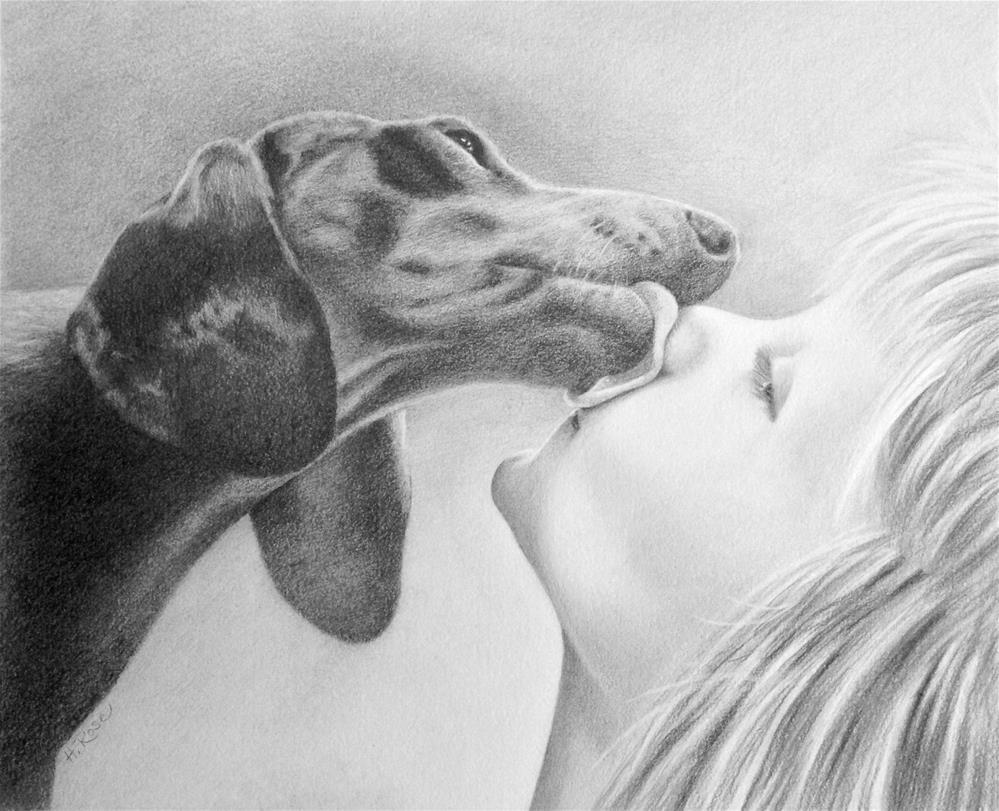 """A Kiss From Salty"" original fine art by Heidi Rose"