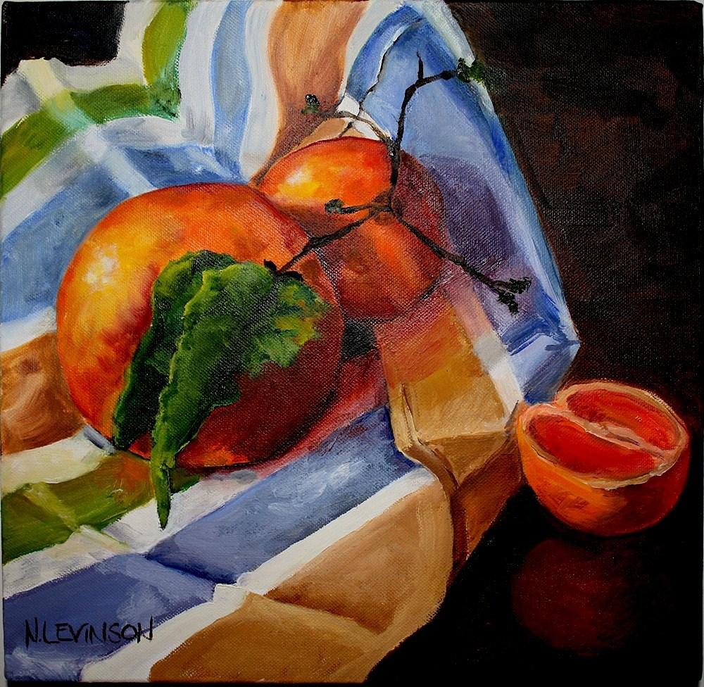 """Vitamin C"" original fine art by Nancy Levinson"