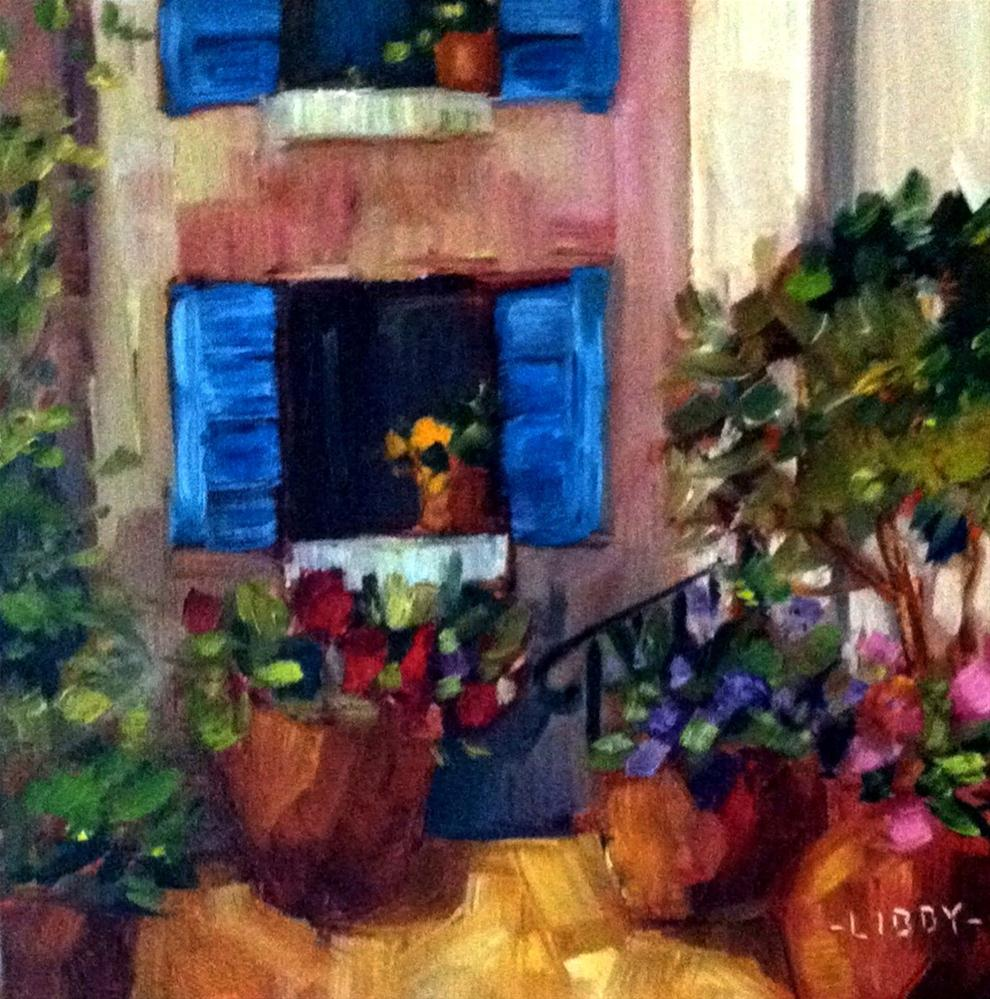 """Tuscan Alley"" original fine art by Libby Anderson"