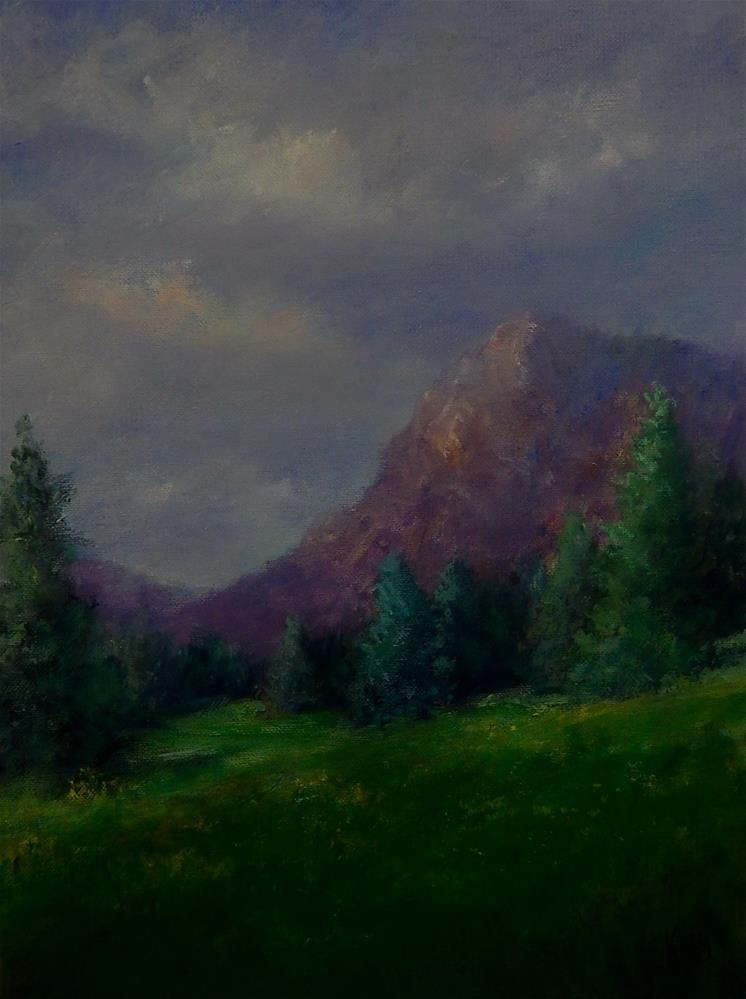 """High Meadow"" original fine art by Sharon Kay Baker"