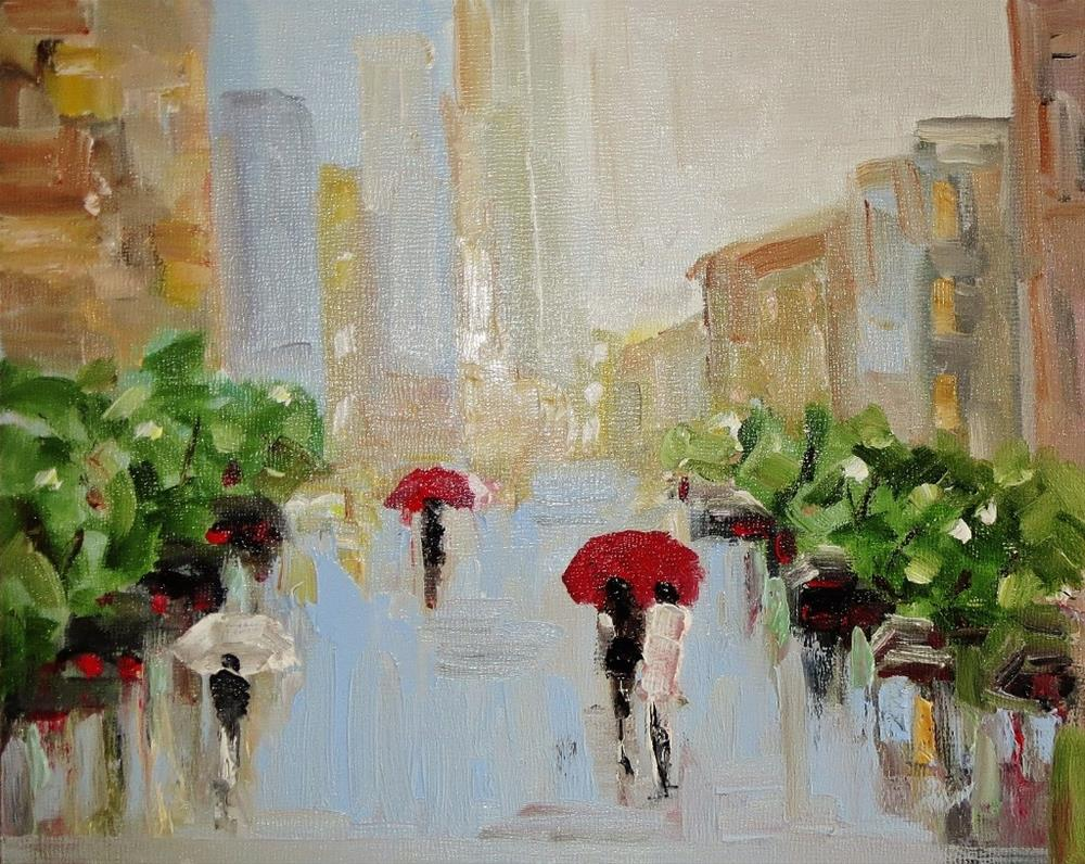 """Summer rain"" original fine art by Astrid Buchhammer"