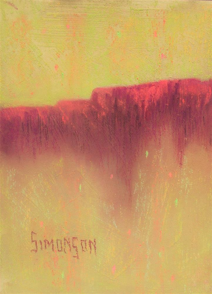 """Distant Mesa"" original fine art by Bev Simonson"