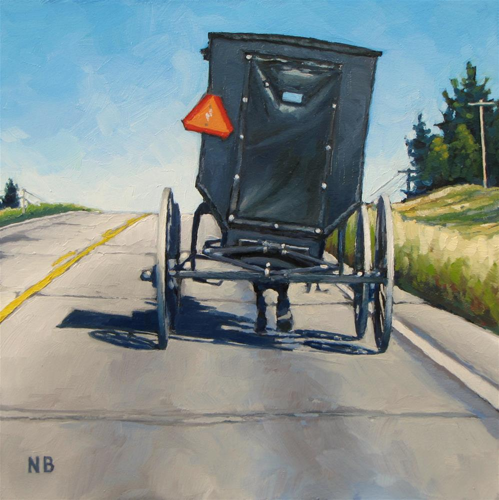 """Slow Lane"" original fine art by Nora Bergman"