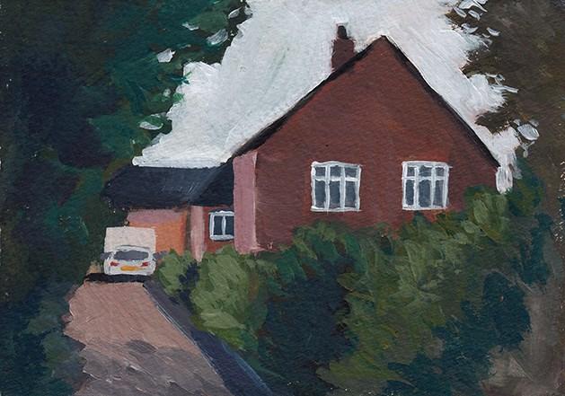 """The Alley"" original fine art by J M Needham"