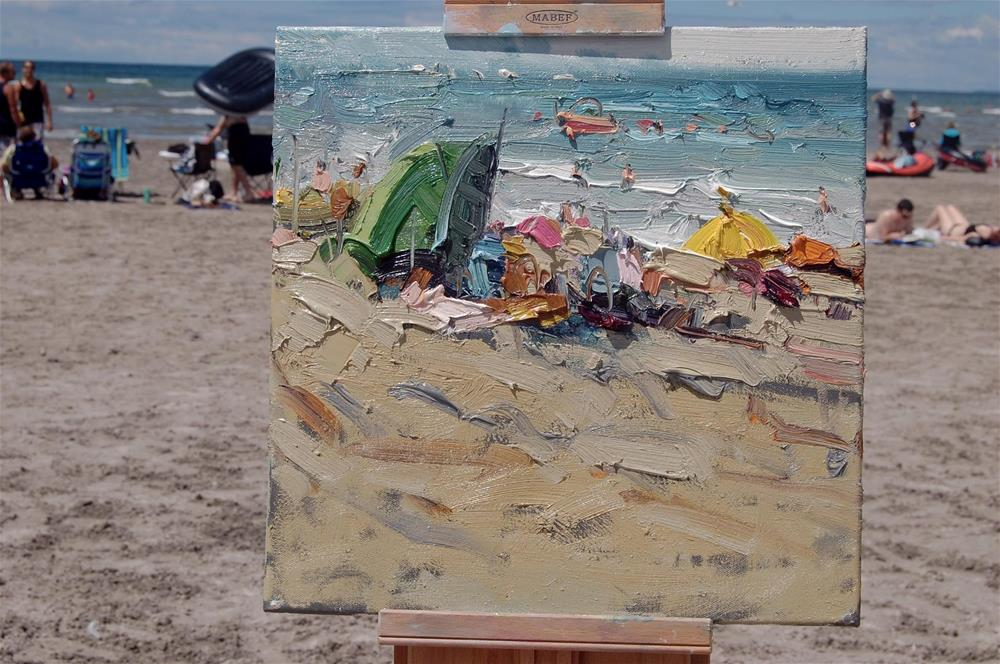 """Wassaga beach (plein air)"" original fine art by Mostafa Keyhani"