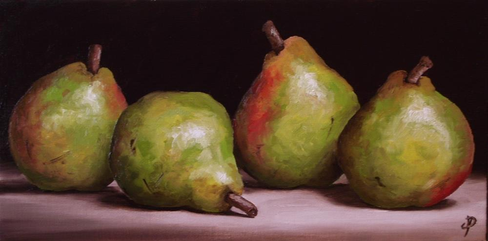 """Four Pears"" original fine art by Jane Palmer"