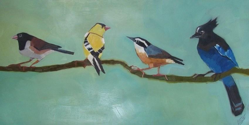"""""""Northwest Birds"""" original fine art by Elizabeth See"""