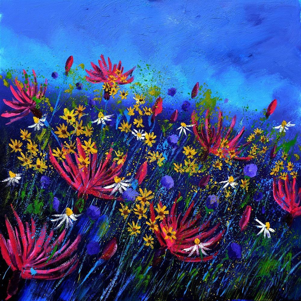 """Wild flowers 885190"" original fine art by Pol Ledent"