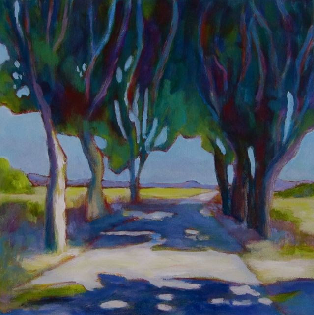 """Sur la Route, Encore"" original fine art by Patricia MacDonald"