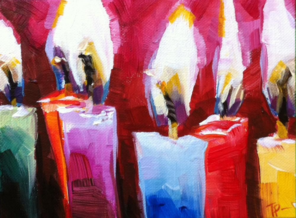 """Make a Wish"" original fine art by Teddi Parker"