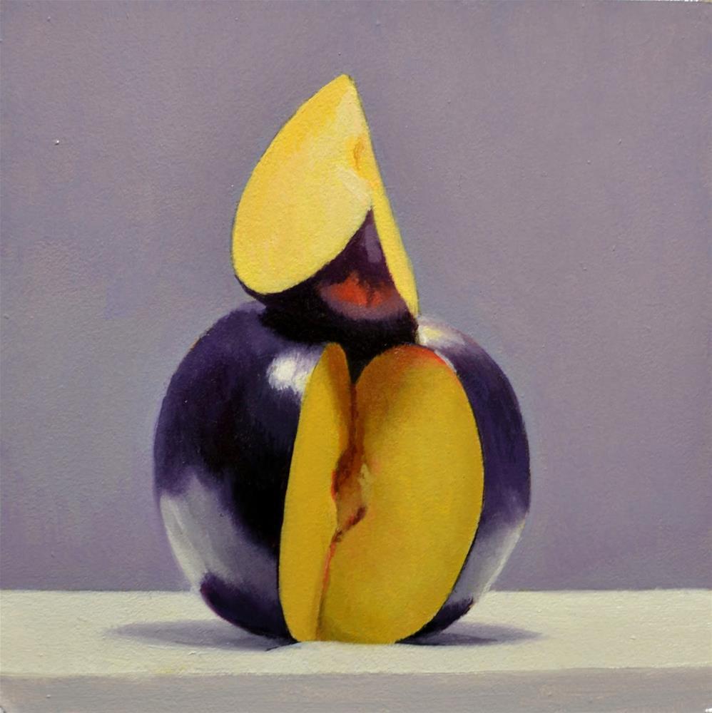 """#378 Plum Good"" original fine art by Brian Burt"