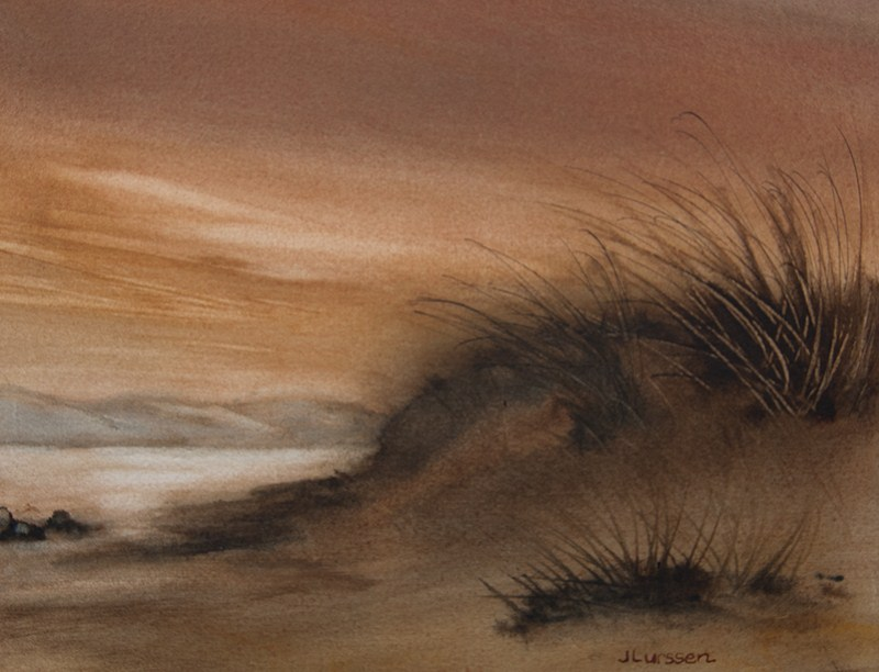 """""""Dune Evening"""" original fine art by Jean Lurssen"""