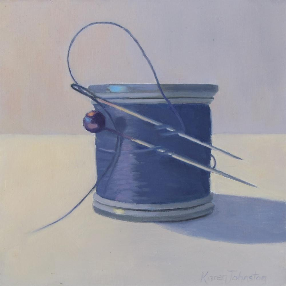 """A Stitch in Time"" original fine art by Karen Johnston"