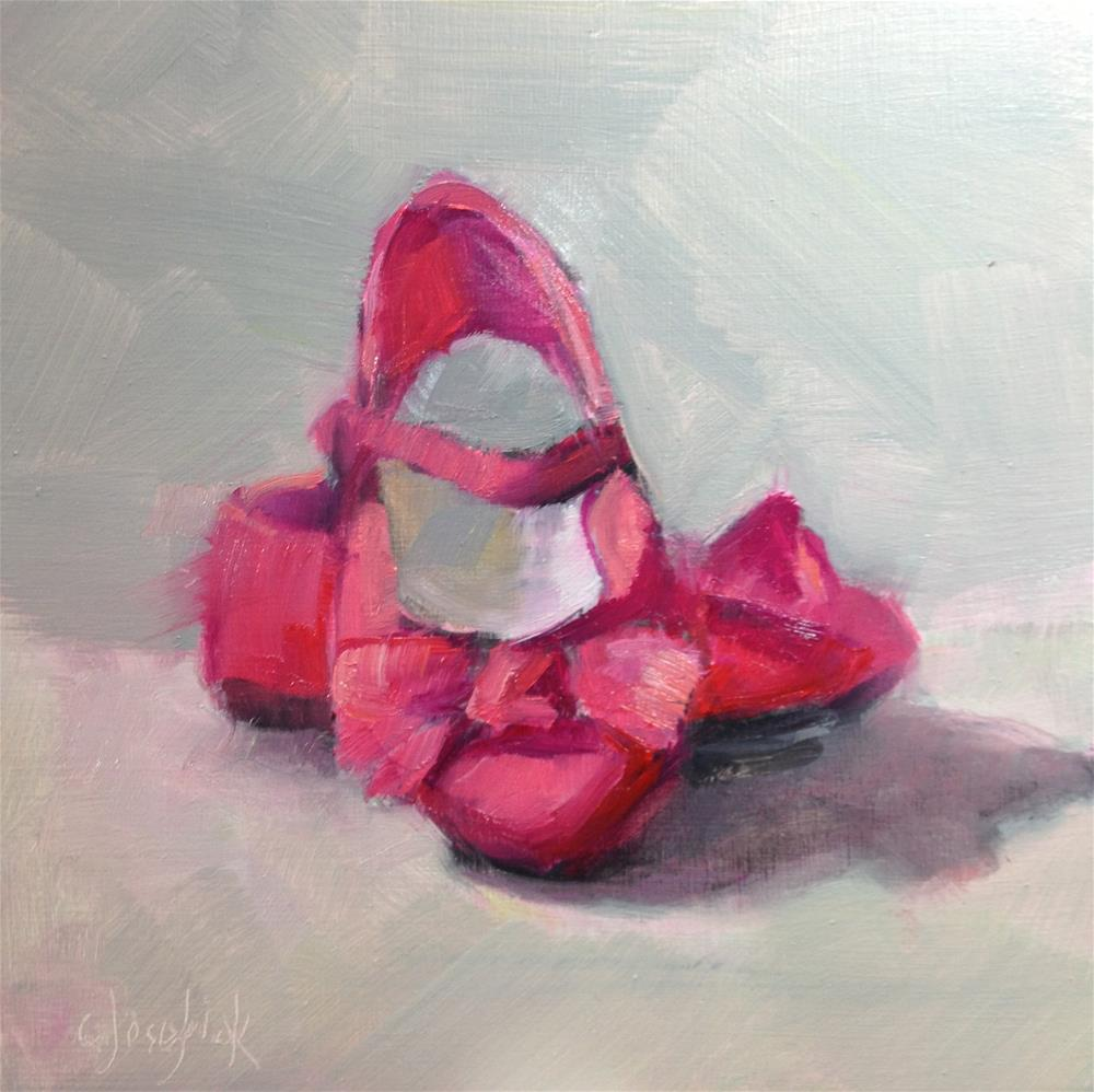 """Pink Shoes"" original fine art by Carol Josefiak"