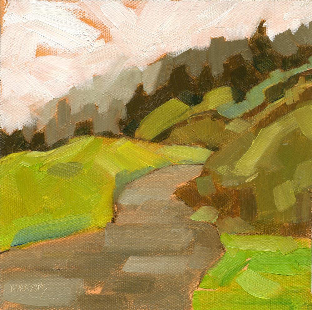 """Bend"" original fine art by Nancy Parsons"