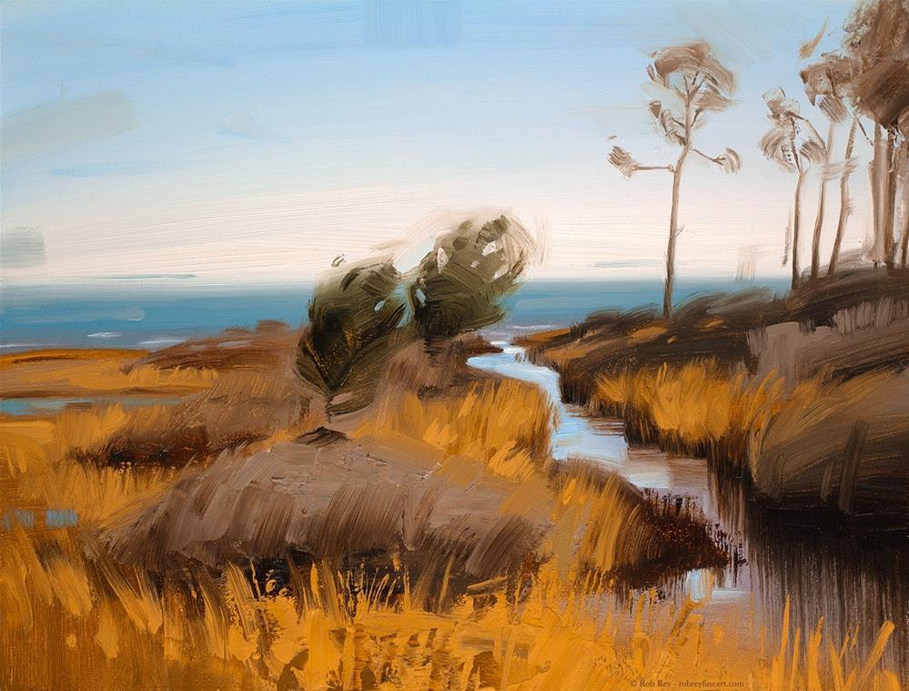 """""""Estuary"""" original fine art by Rob  Rey"""