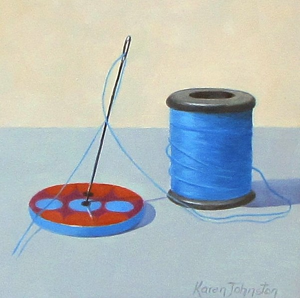 """Big Button"" original fine art by Karen Johnston"